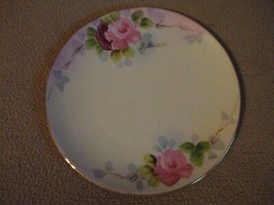 Nippon Porcelain Hand Painted Signed Saucer Plate Roses - Vintage