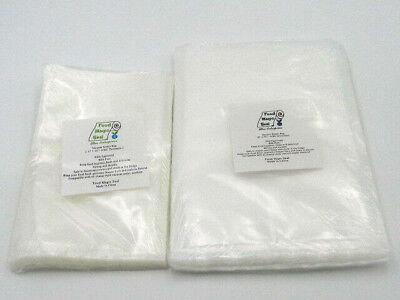 200 Bags 100-8x12 & 100-6x10 Food Magic Seal 4 Mil Vacuum Sealer Food Storage!