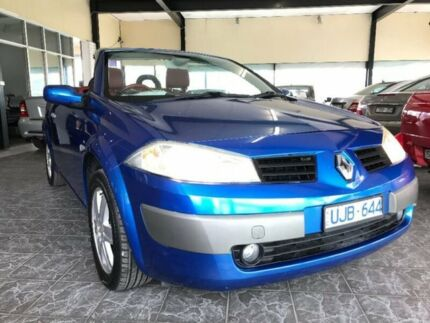 2005 Renault Megane II E84 Dynamique LX Blue 4 Speed Automatic Cabriolet Maidstone Maribyrnong Area Preview