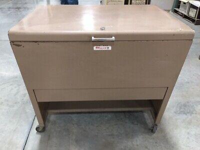 Vintage Visirecord Filing Cabinet Metal Industrial Mid-century Inventory
