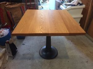 Solid wood pedestal games table