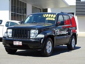 2010 Jeep Cherokee KK MY10 Sport Brilliant Black 4 Speed Automatic Wagon Garbutt Townsville City Preview