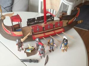 Playmobil Romans: galley ship, tent, soldiers, Kitchener / Waterloo Kitchener Area image 2
