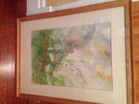 Large ORIGINAL WATERCOLOUR PAINTING - Signed by artist, mounted & framed