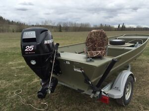 Lund boat co 1648 jon for sale canada for Jon boat with jet motor
