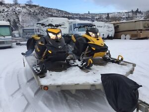 2009 & 2008 Summit 800 XP's and Trailer For Sale