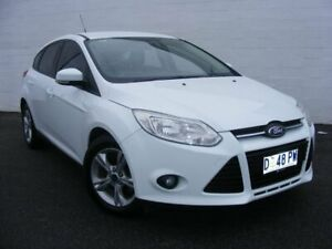 2013 Ford Focus LW MkII Trend PwrShift White 6 Speed Sports Automatic Dual Clutch Hatchback Devonport Devonport Area Preview
