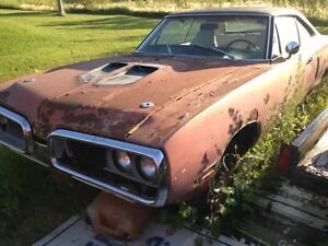 WANTED  1970 Plymouth roadrunner or satelite parts /poject cars