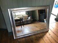 Silver Framed large mirror