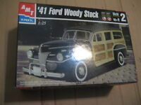 AMT 41 ford woddy stock model kit. 1:25 scale. Brand new.  Age 1
