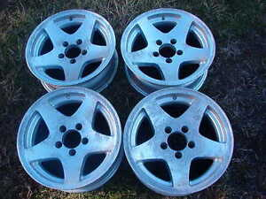 Four Alloy Trailer Wheels