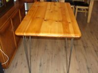 Hairpin leg Solid Wood Desk table