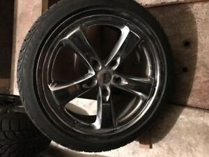 4 bridgestone blizzak winter tires and rims porsche carrera