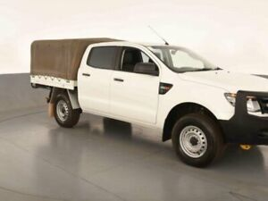 2013 Ford Ranger PX XL 2.2 (4x4) Cool White 6 Speed Automatic Crew Cab Chassis Bibra Lake Cockburn Area Preview