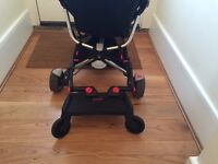 Black Quinny Zapp stroller/buggy (including rain cover and buggy board)