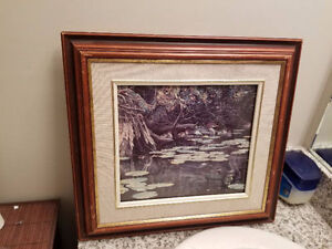 ROBERT BATEMAN 1978 Ducks Art Framed 17 X 16