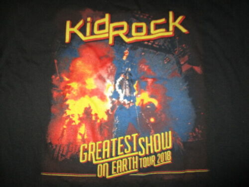 2018 KID ROCK American Rock N Roll Concert Tour (MED) T-Shirt A THOUSAND HORSES