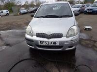 2003(53reg) Toyota Yaris 1.0 Petrol 65,000 miles MOT;'d DEC BARGAIN £795