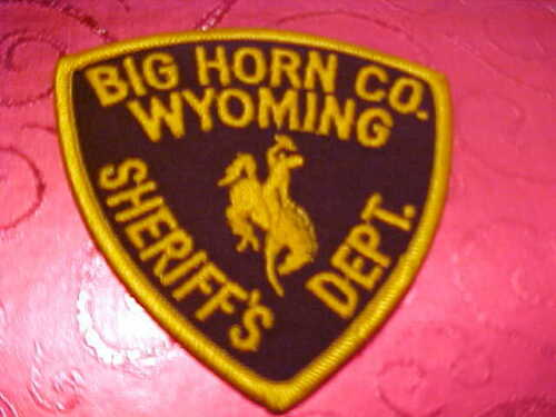 BIG HORN COUNTY WYOMING POLICE PATCH SHOULDER SIZE UNUSED