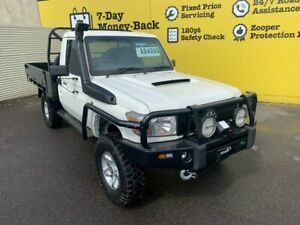 2012 Toyota Landcruiser VDJ79R MY13 Workmate White 5 Speed Manual Cab Chassis Invermay Launceston Area Preview