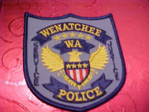 WENATCHEE WASHINGTON POLICE PATCH SHOULDER SIZE UNUSED