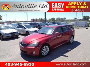 2007 Lexus IS 250 AWD leather roof navi back up cam Everyone App