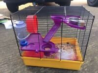 Multi level hamster cage with accessories , free delivery