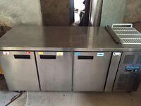 Polar Three Door Refrigerated Counter G597