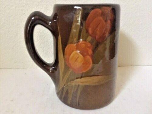 "Antiques American Art Pottery, Owens, Utopia, Tankard,  ""Tulips"", c1904, USA"