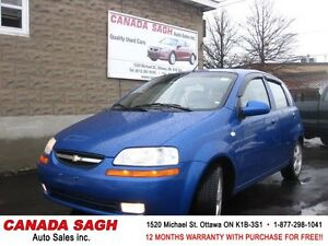 2007 Chevrolet Aveo LT,AUTO,  ROOF, 83km, 12M.WRTY+SAFETY $4490