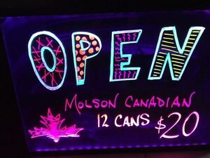 LED writing board, replace the old neon open sign