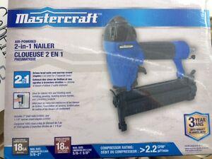 Cloueuse/agrafeuse pneumatique 2 en 1 Mastercraft 18 gage