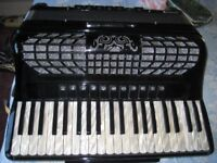 Bugari cassotto 4-voice musette tuned piano accordion in excellent condition recently serviced/tuned