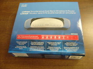 Excellent Cisco Linksys WRT400N-CA Dual-Band Wireless-N Router