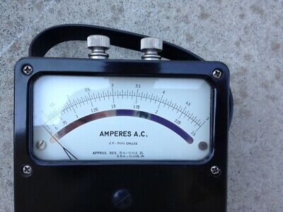 Analog Ac Ampere Meter Rang 0 -- 2.5 A 0--- 5 A Weston Electrical Instrument