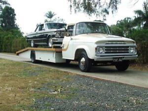 1976 Dodge D5N Custom White & Caramel 4 SPEED MANUAL RAMP TRUCK Capalaba Brisbane South East Preview