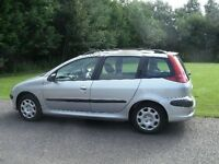 Peugeot 206 SW S TD Silver good condition