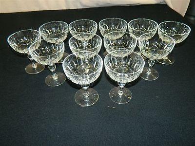 (Set of 12 Crystal Stuarts of England Champaign or Sherbert Glasses Vintage)