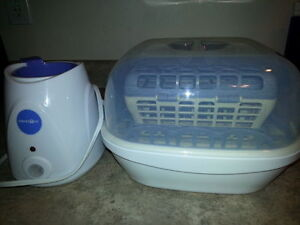 Warmer, Sterilizer, Bottles lot