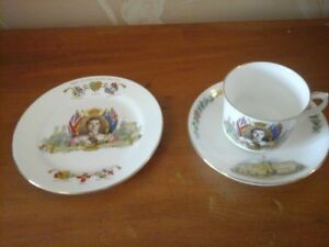 1937  King Edward VIII Coronation Cup and Saucer also Plate