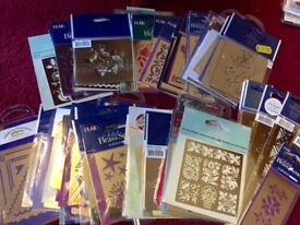 Card Making Job Lot, stencils, stamps, card plus new adult colouring books