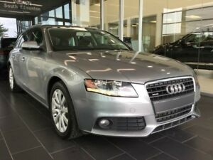 2011 Audi A4 PREMIUM, HEATED LEATHER, AWD, ACCIDENT FREE