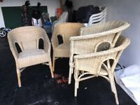Outdoor Chairs X4 Lloyd -loom style