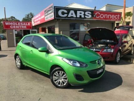 2010 Mazda 2 DE Maxx Green 5 Speed Manual Hatchback Edgeworth Lake Macquarie Area Preview