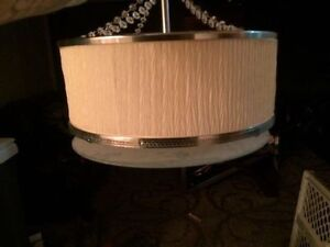 Off White Drum Style Ceiling Light for your Dining Area...