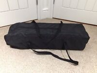 Baby Way Baby or toddler travel cot or playpen, folds down, with carry bag