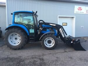 LEFTOVER Landini 4-100 95Hp Cab Tractor with Quicke Loader