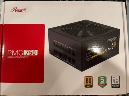 Rosewill PMG 750 Modular Power Supply 80 plus gold certified
