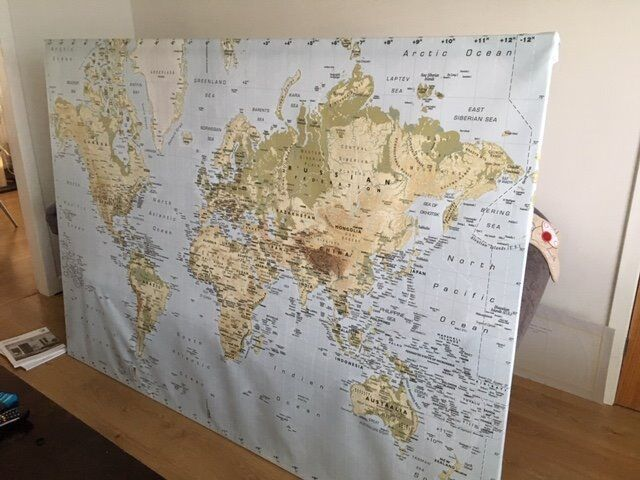 Map of the World on canvas (Ikea) | in Balerno, Edinburgh | Gumtree