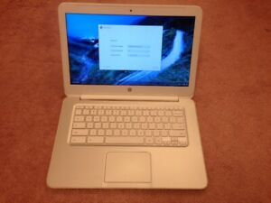 "White HP 14-in Chromebook 14"" SMB 4GB 16GB SSD Laptop Notebook"